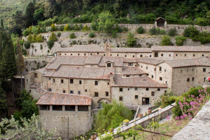 Kluiscellen van St Francis van Assisi stock foto