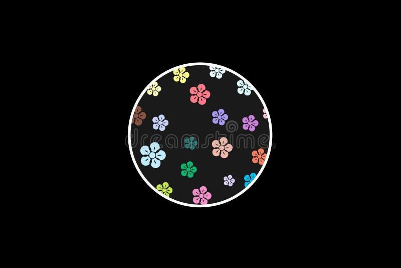 Klumpa ihop sig med blommor som är liknande till en leksak vektor illustrationer