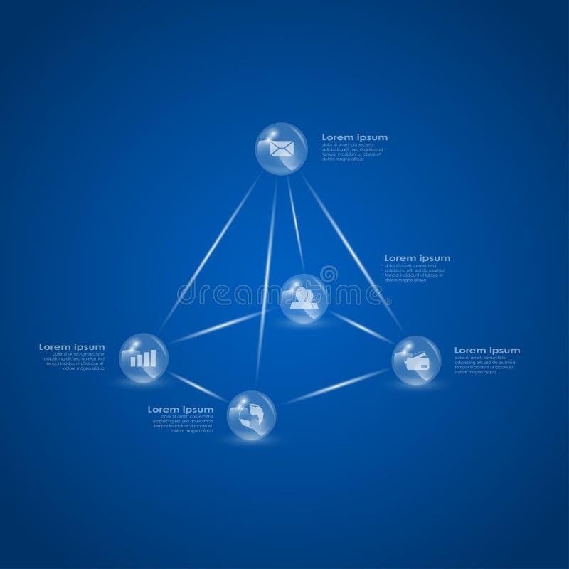 Download Klumpa ihop sig pyramiden vektor illustrationer. Illustration av spheres - 37346733