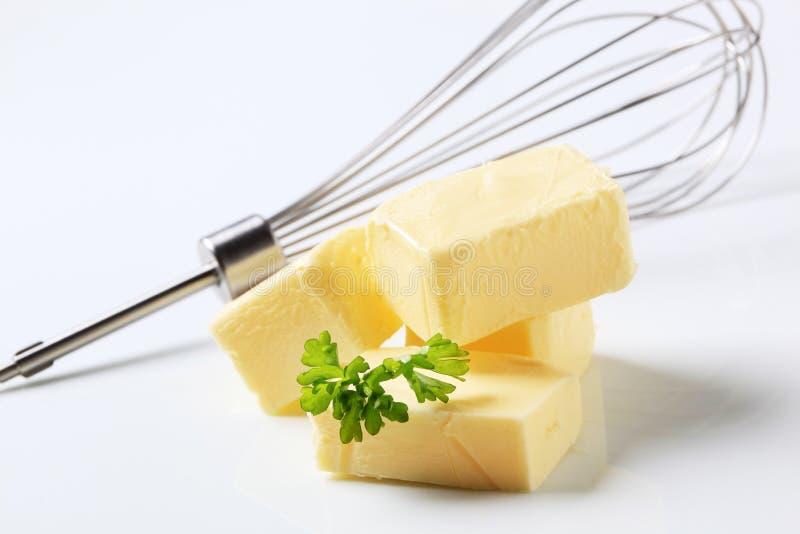 Klumpen von Butter stockbild