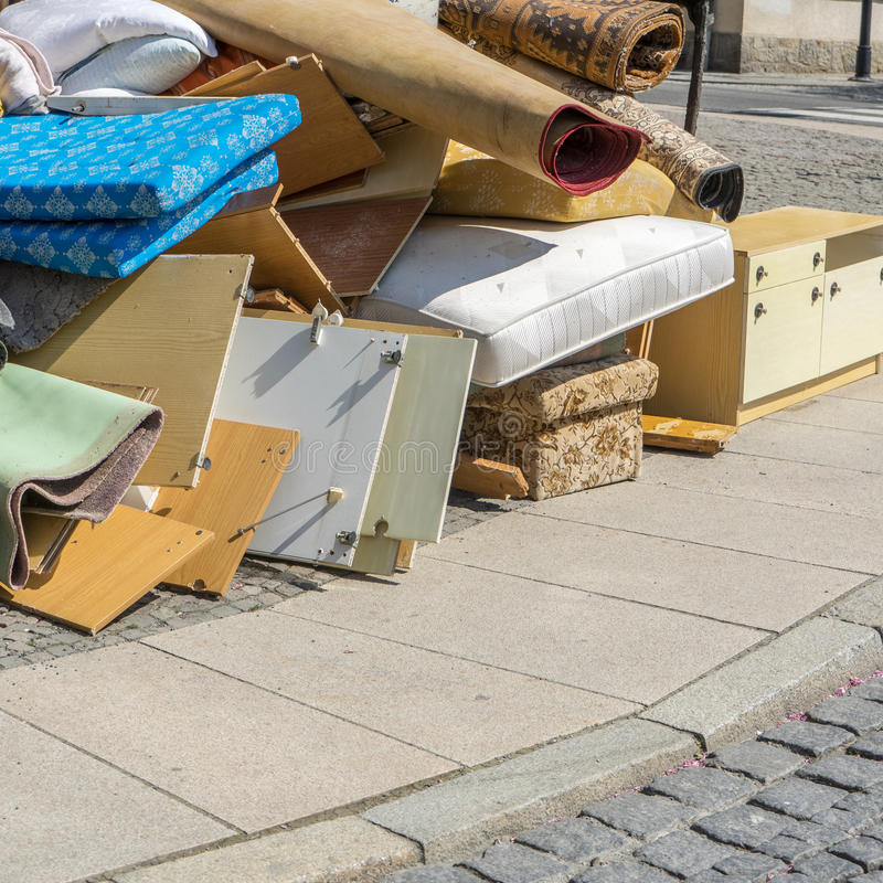 Klumpig avfalls arkivbild