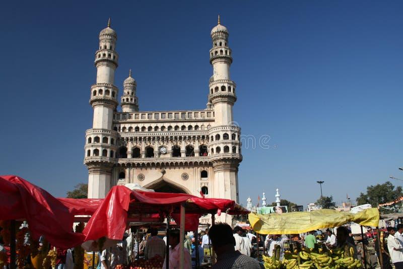 Klusje Minar, Hyderabad stock foto's
