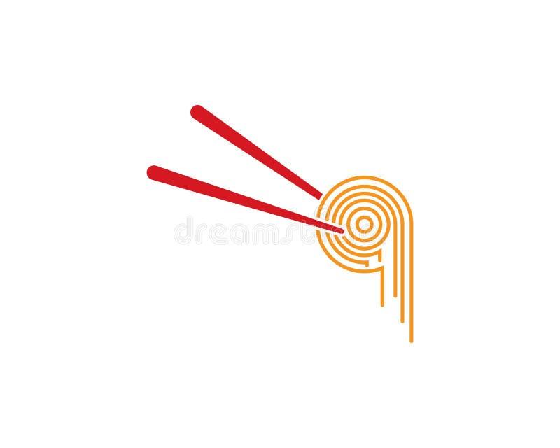 Kluski loga projekt ilustracja wektor
