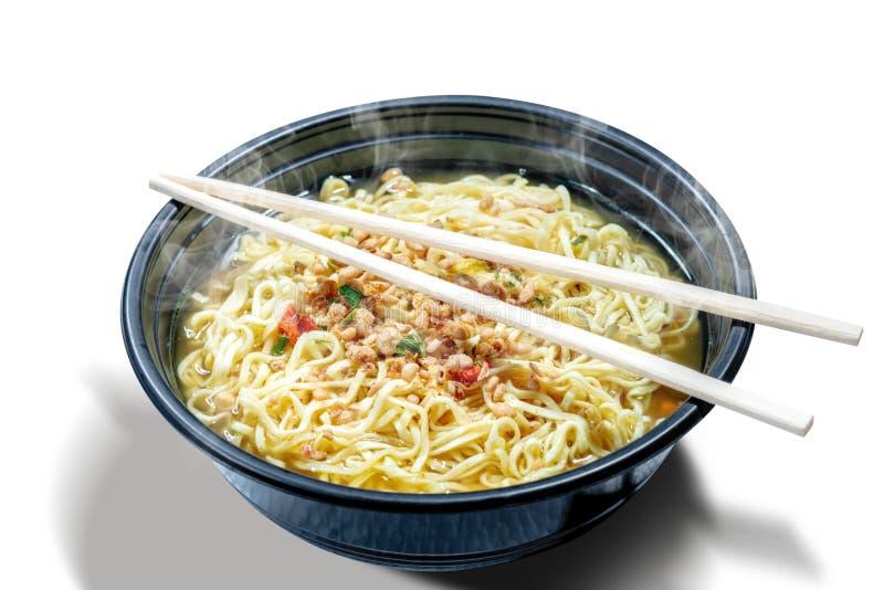 Kluski na pucharze z chopstick zdjęcia stock