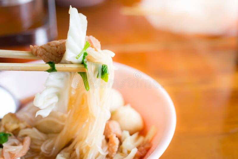 Kluski tajlandzki jedzenie styl obrazy royalty free