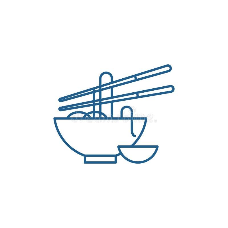 Kluski wykładają ikony pojęcie Kluski płaski wektorowy symbol, znak, kontur ilustracja ilustracji