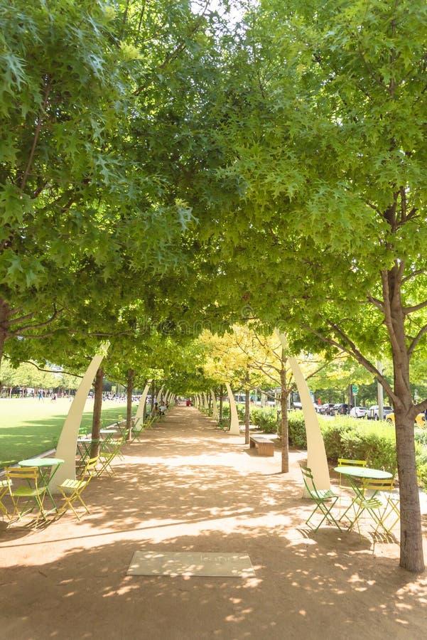 Klyde沃伦公园5 2英亩公园在街市达拉斯, Tex 免版税库存图片