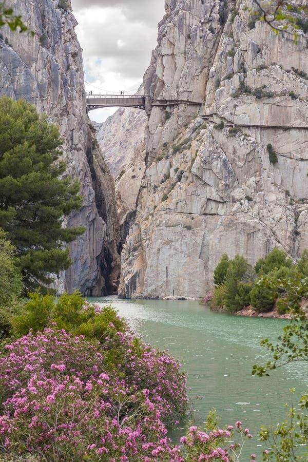 Klyfta av Gaitanesen i Malaga, Spanien royaltyfria foton