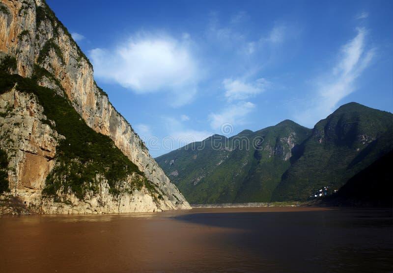 klyftaliggandeflod tre yangtze royaltyfri foto