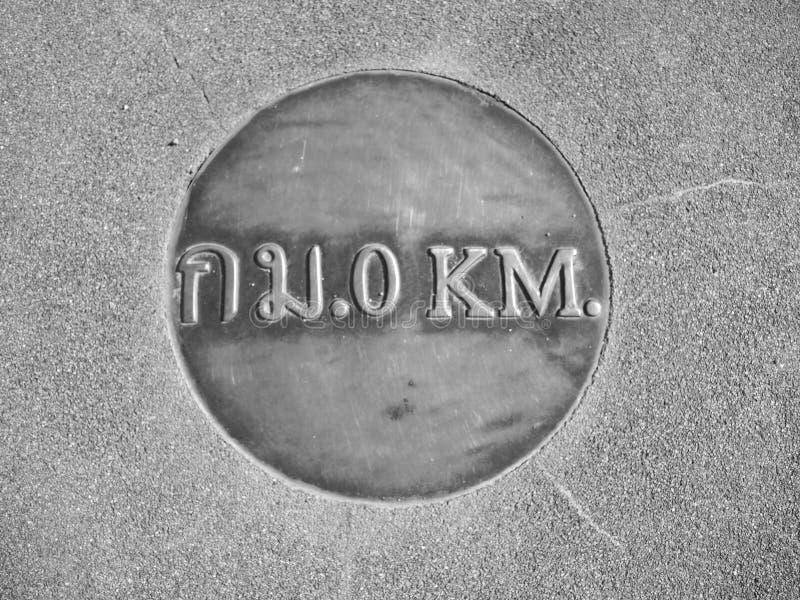 0 km fotografering för bildbyråer