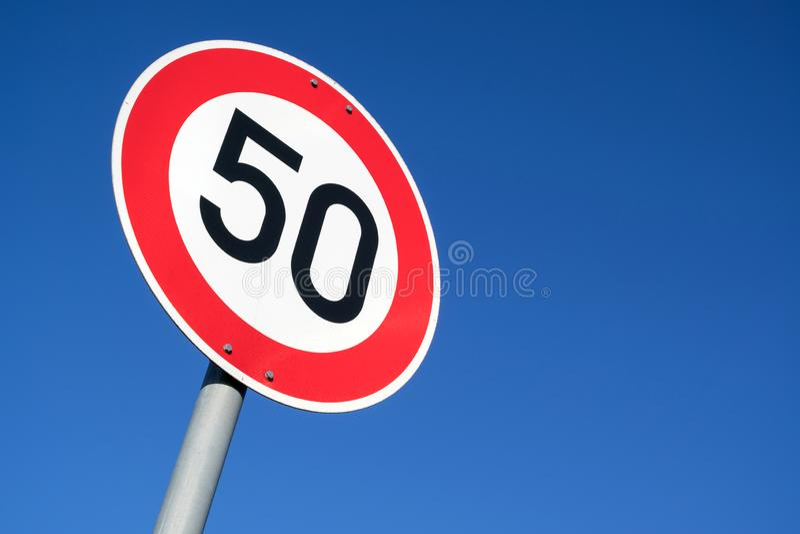 ??50 km/h 库存图片