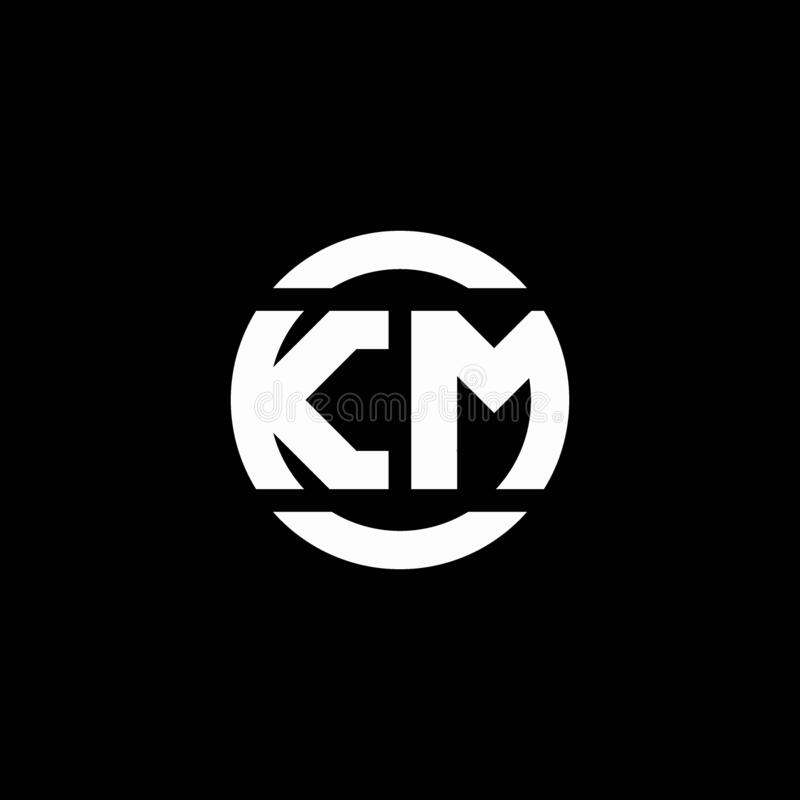 Km Logo Monogram Isolated On Circle Element Design Template Stock Vector Illustration Of Initial Alphabet 173936429