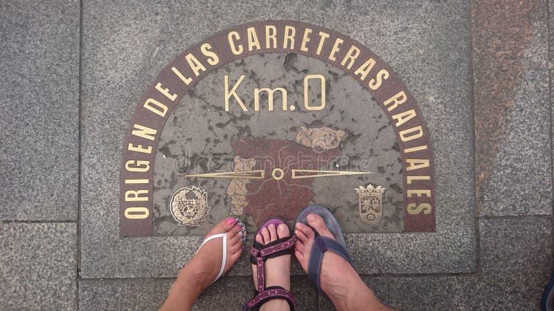 Km 0, Madrid, Spanien arkivfoton