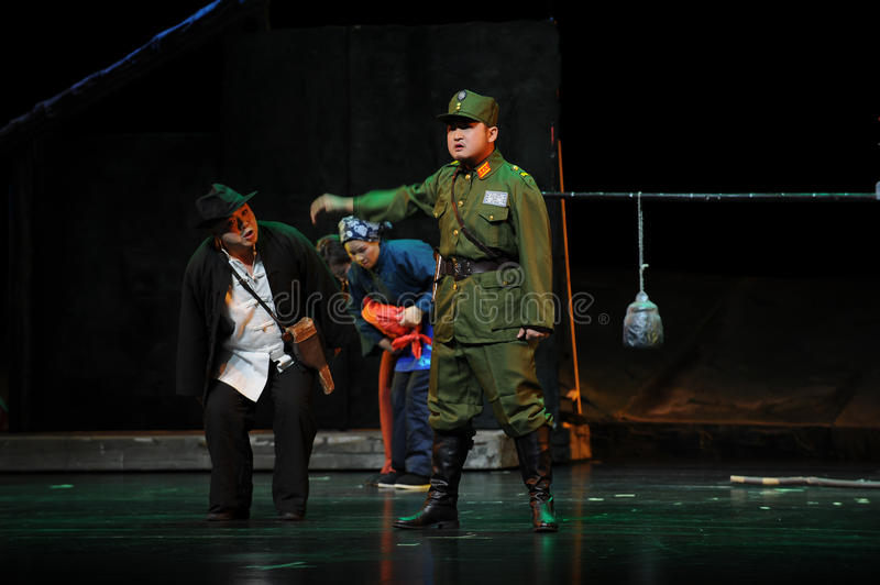 KMT officers and captain - Jiangxi opera a steelyard. Jiangxi opera a steelyard is adapted from a true story: the last century fortys, the protagonists father royalty free stock images