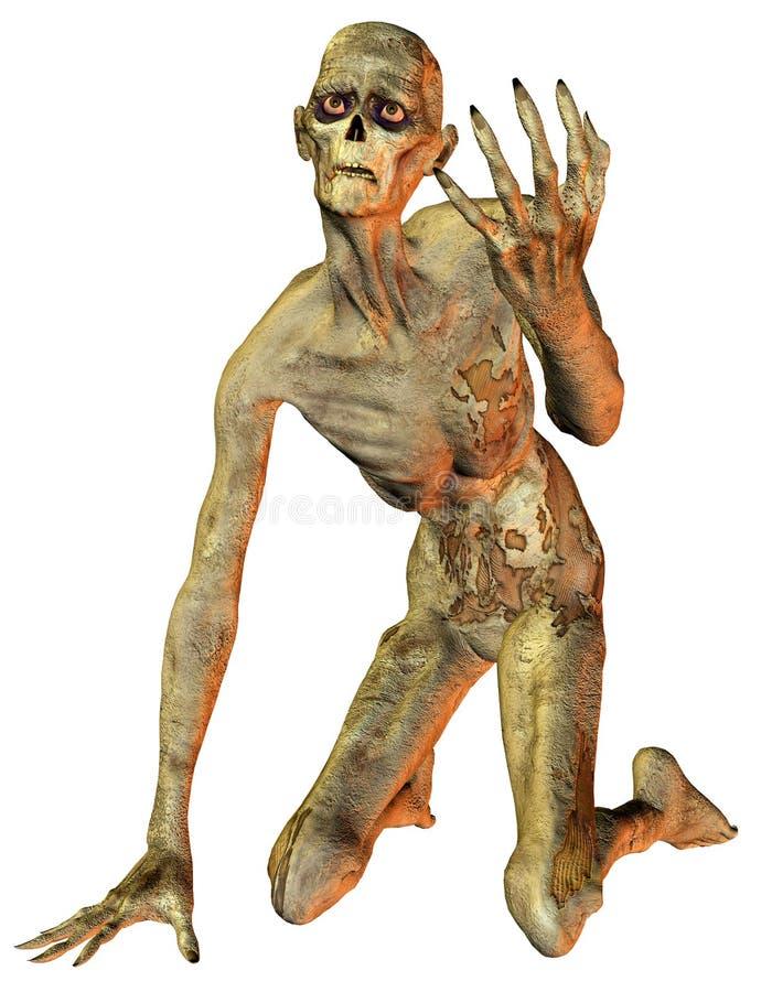 knäa zombien stock illustrationer