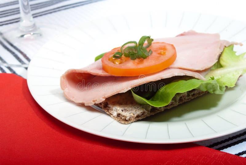Knäckebrotsandwich stockbild