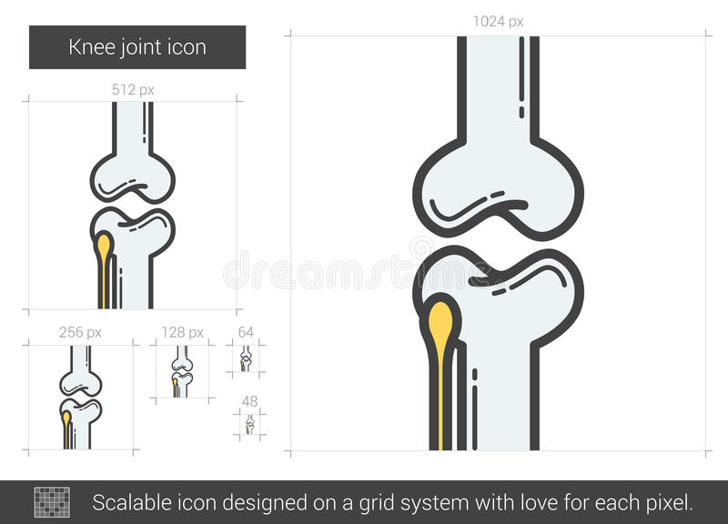 Knäledlinje symbol stock illustrationer