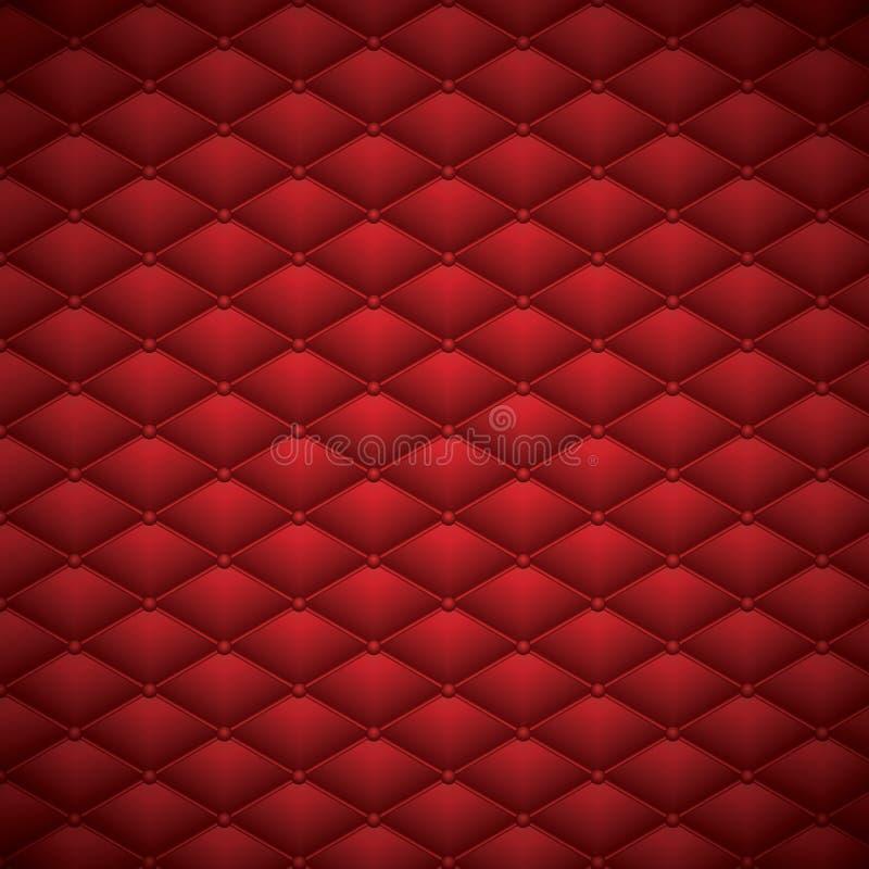 Knäppas illustrationen för vektorn för bakgrund för rött läderabstrakt begrepp den lyxiga vektor illustrationer