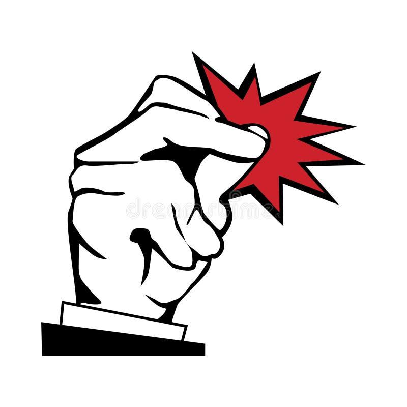 Knäppet fingrar illustrationen royaltyfri illustrationer