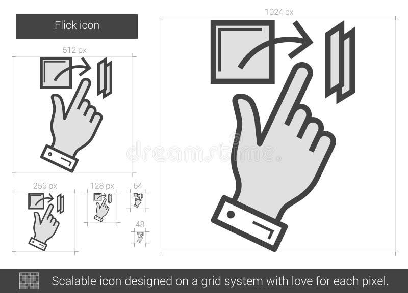 Knäpplinje symbol royaltyfri illustrationer