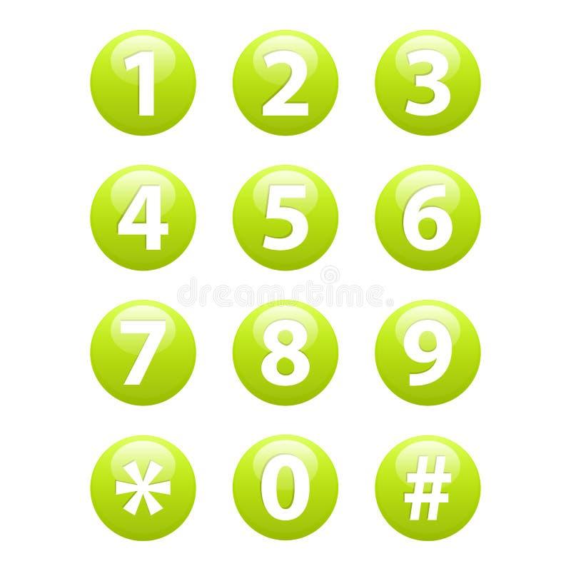 Knöpfe für Netz Telefonikonen-Zeichennetz stock abbildung
