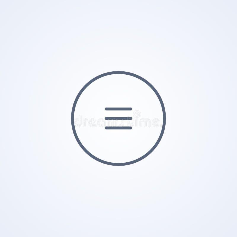 Knöpfen Sie Menü, beste graue Linie Ikone des Vektors stock abbildung