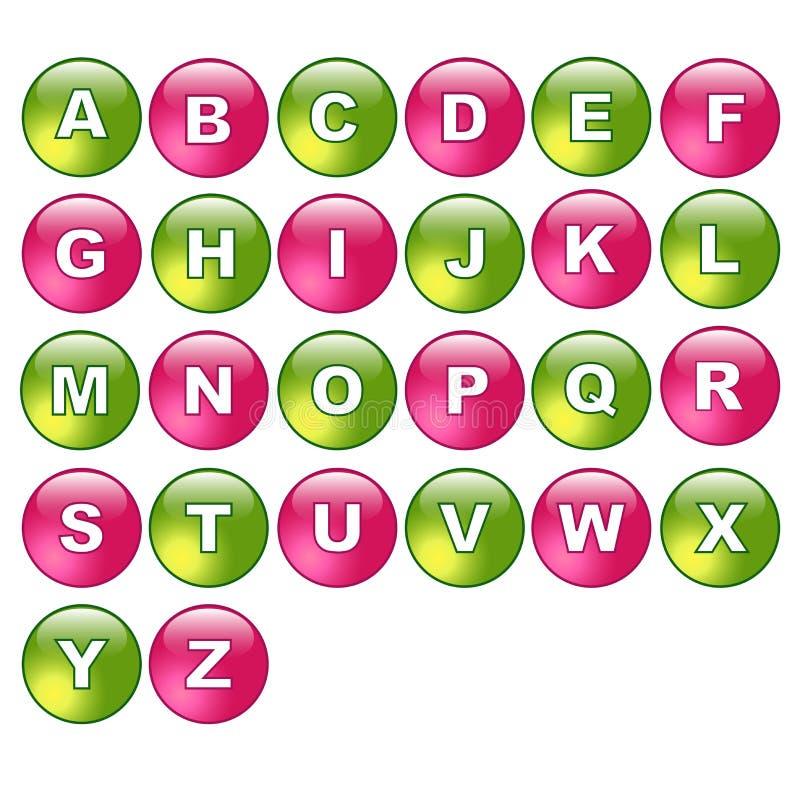Knöpft Alphabet vektor abbildung