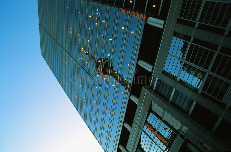 KN-Kontrollturmreflexion stockfotos