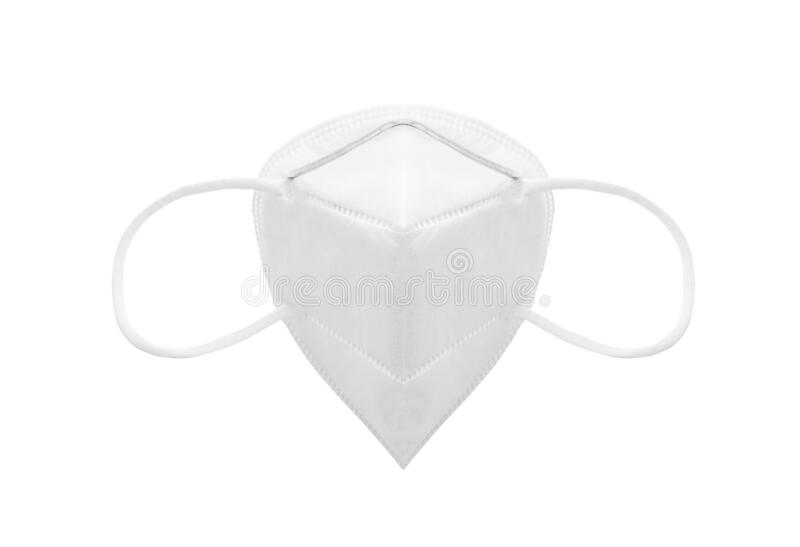KN95 or N95 Protective face mask stock images