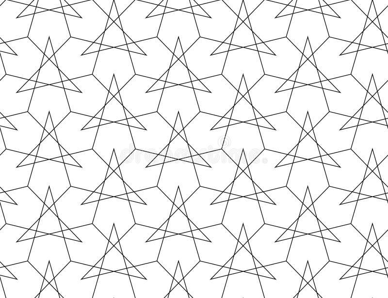 KNACKANDE LÄTT PÅ LINJÄR SÖMLÖS VEKTORMODELL MODERN STILFULL MONOKROM INGREPPSTEXTUR MODERIKTIG KORSNING GEOMETRISK DESIGN stock illustrationer