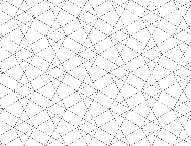 KNACKANDE LÄTT PÅ LINJÄR SÖMLÖS VEKTORMODELL MODERN STILFULL MONOKROM INGREPPSTEXTUR MODERIKTIG KORSNING GEOMETRISK DESIGN vektor illustrationer