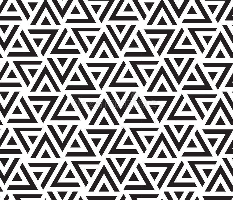 KNACKANDE LÄTT PÅ RANDIG TRIANGEL Geometrisk sömlös vektormodell abstrakt bakgrund royaltyfri illustrationer