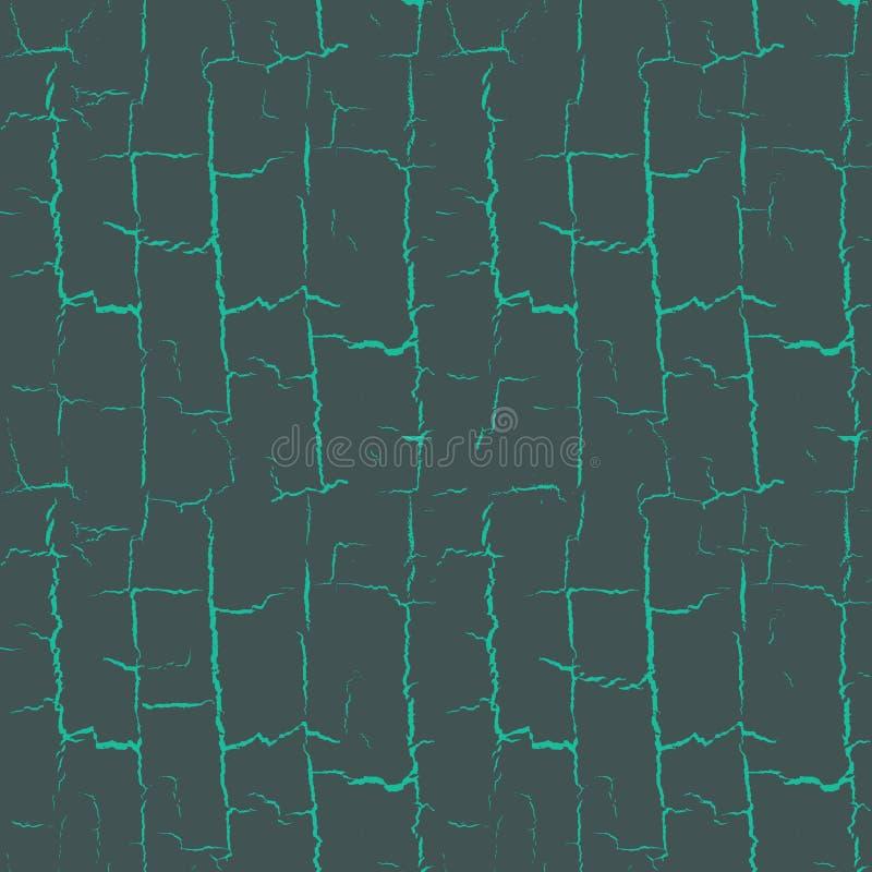 Knackt nahtloses Muster stock abbildung