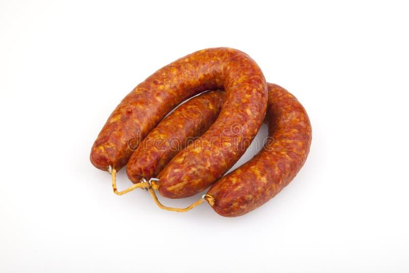 Knackwurst - Duitse worst stock foto