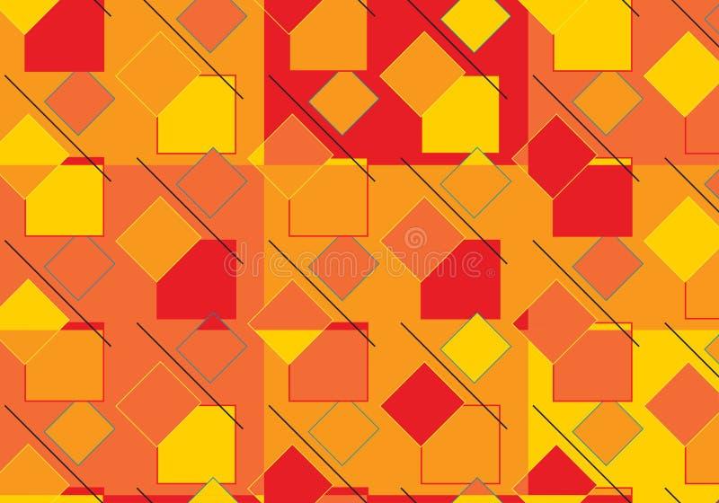 Knall Art Rhombus Pattern lizenzfreie abbildung