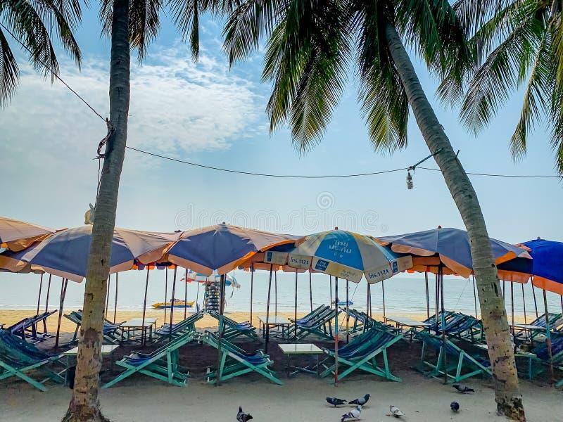 Knall Saen-Strand, Chonburi, Thailand stockbild