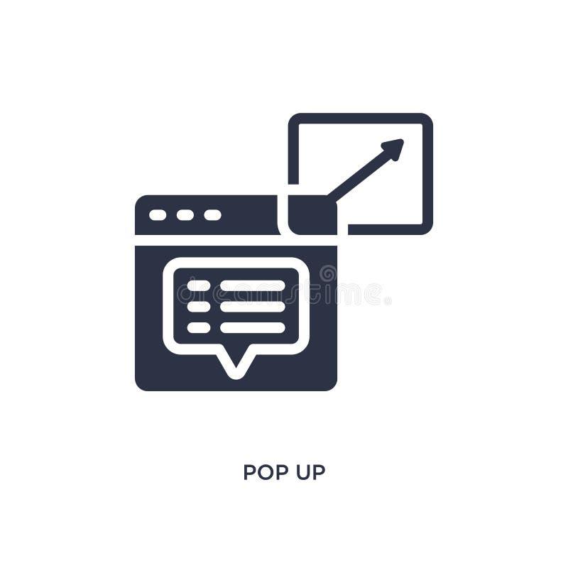 knallen Sie oben Ikone auf weißem Hintergrund Einfache Elementillustration von vermarktendem Konzept stock abbildung