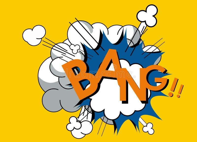 Knallspracheblase der Pop-Art komische Abstraktes Hintergrundmosaik lizenzfreie abbildung
