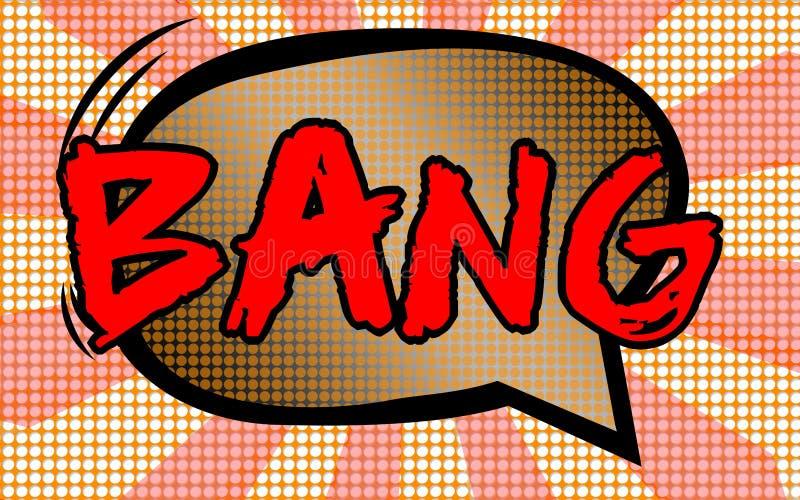Knalltext mit Comic-Buch-Art stock abbildung