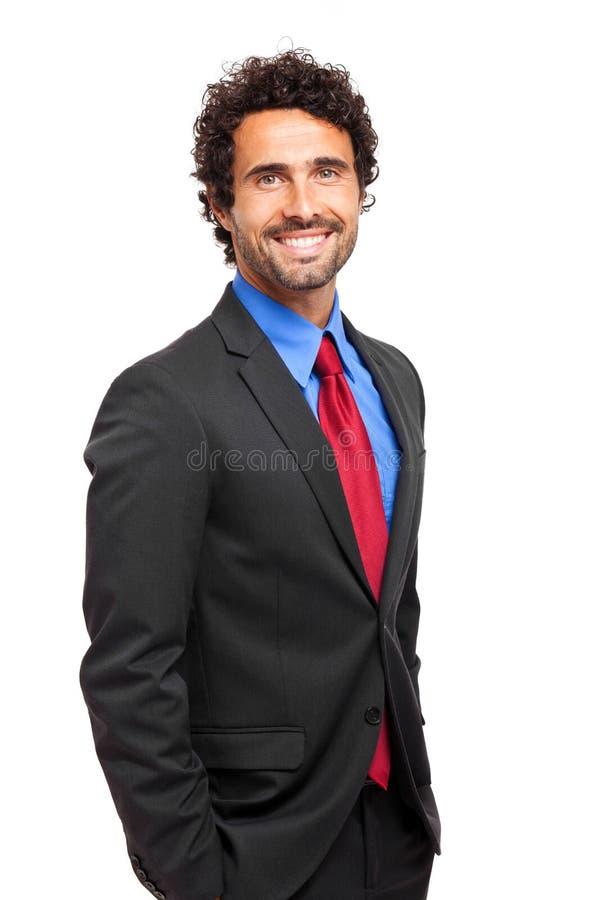 Knap het glimlachen mannelijk managerportret stock foto