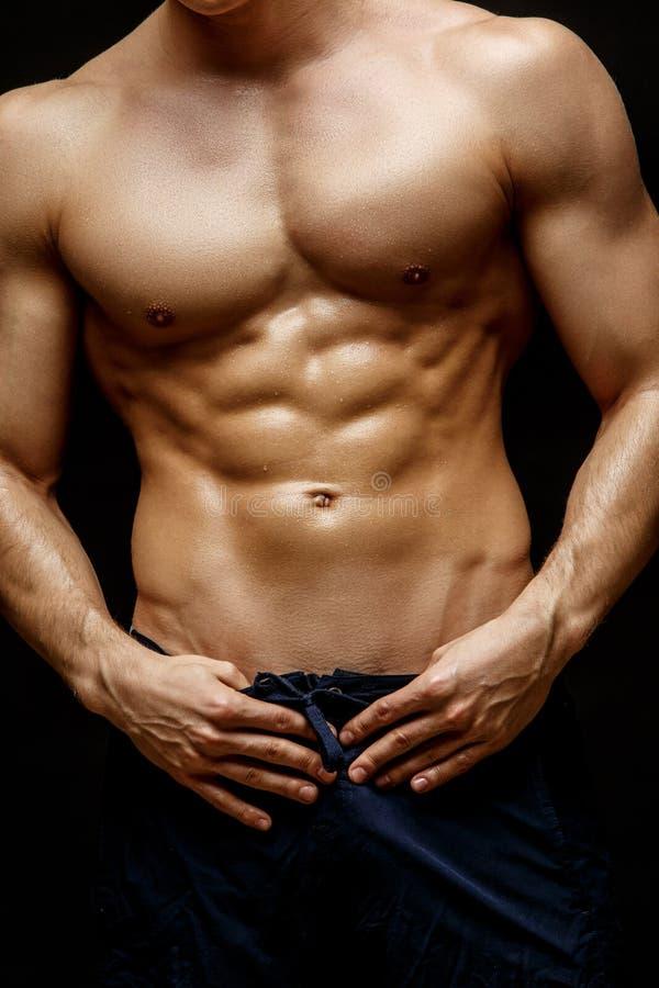 Knap jong man torso stock fotografie