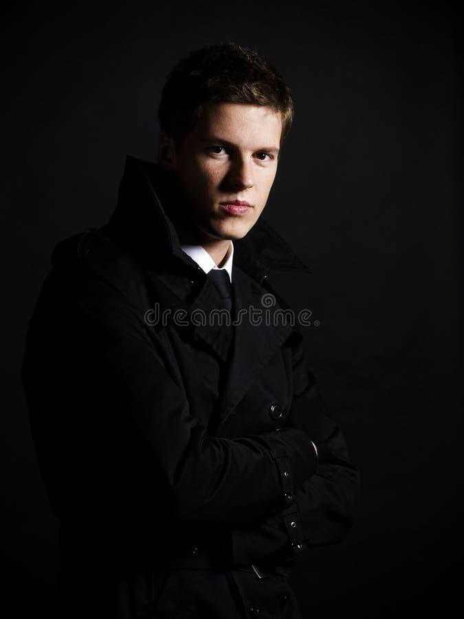 Knap jong mannelijk model stock foto