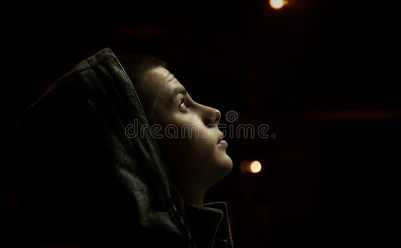Knap jonge mensenportret stock fotografie