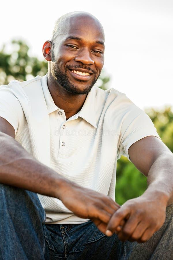 Knap Zwart Mensenportret stock foto's