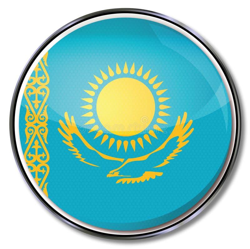 Knapp av Kasakhstan vektor illustrationer