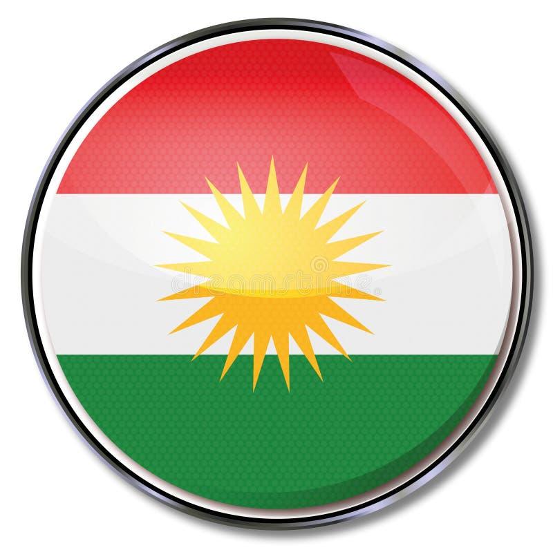Knapp av kurdistanen vektor illustrationer