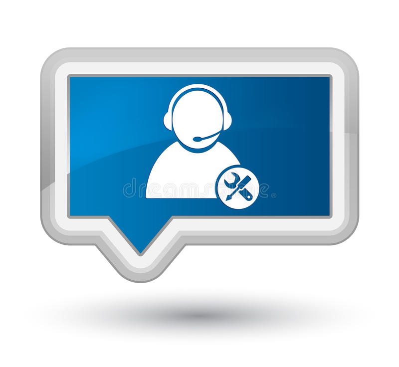 Knapp för baner för blått för början för symbol för Techservice royaltyfri illustrationer