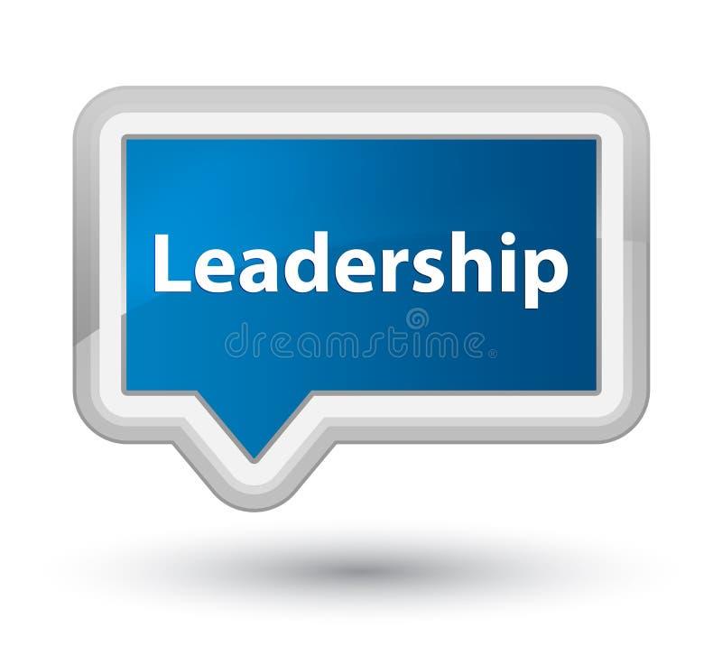 Knapp för baner för ledarskapbörjanblått royaltyfri illustrationer