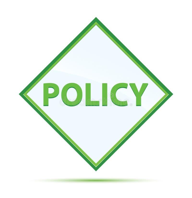 Knapp för diamant för modernt abstrakt begrepp för politik grön royaltyfri illustrationer