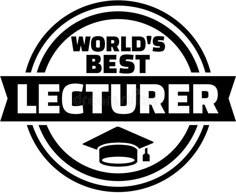 Knapp för föreläsare för världs` s bästa vektor illustrationer
